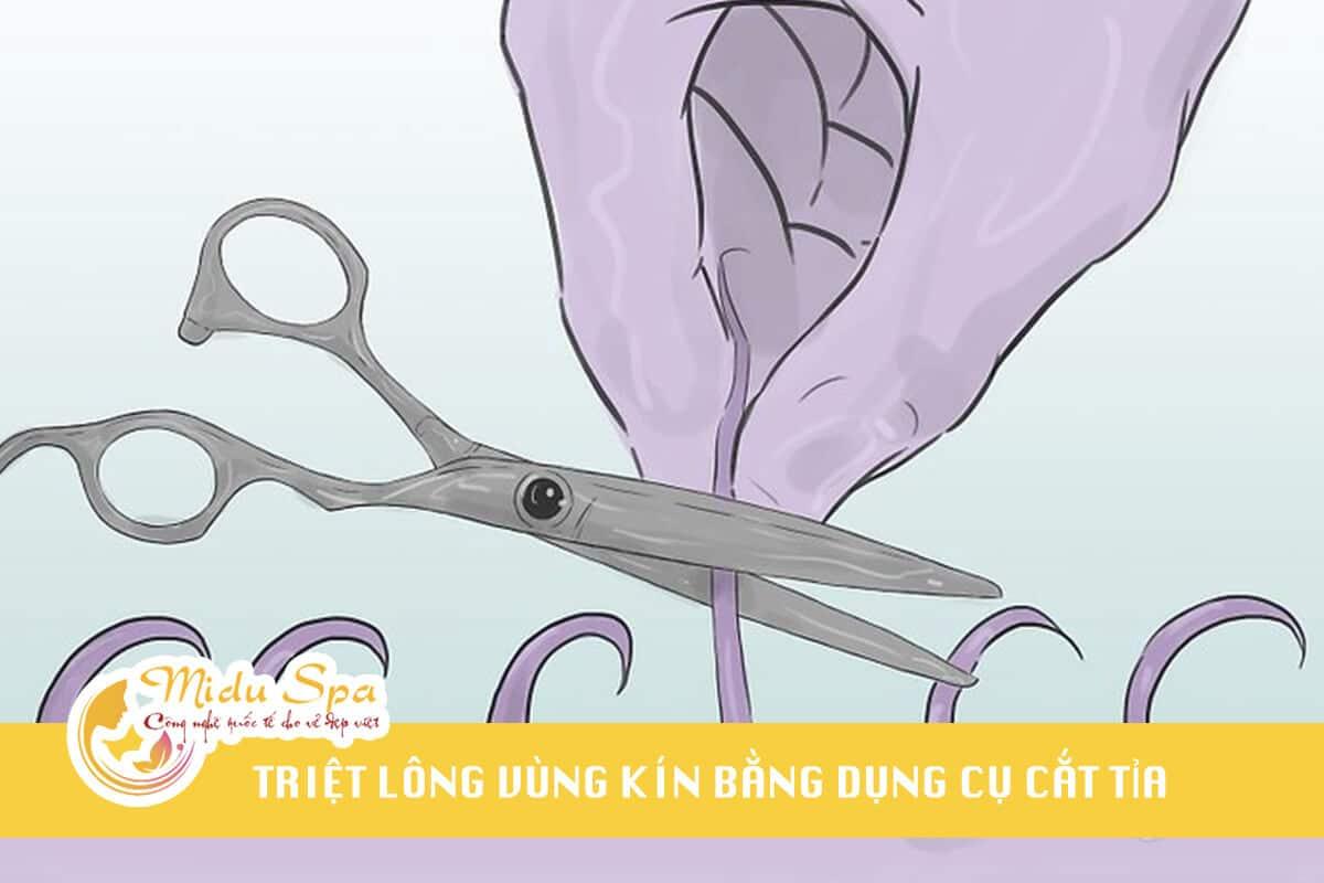 triệt lông vùng kín bằng dụng cụ cắt tỉa