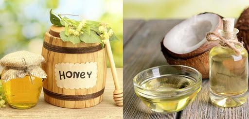 trị mụn thịt bằng mật ong và dầu dừa