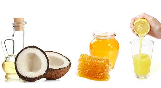 trị viêm nang lông bằng dầu dừa chanh mật ong