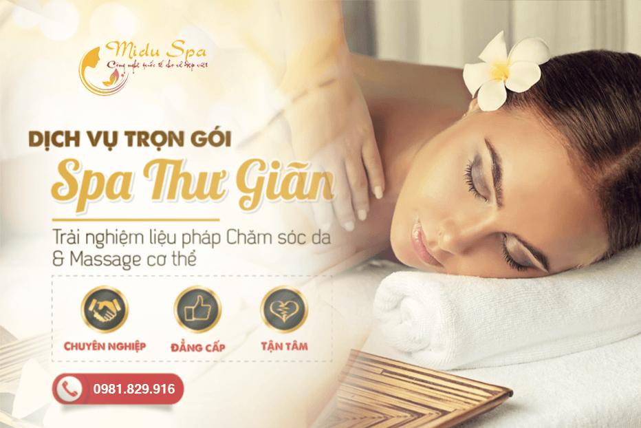 spa massage tại miduspa thủ đức