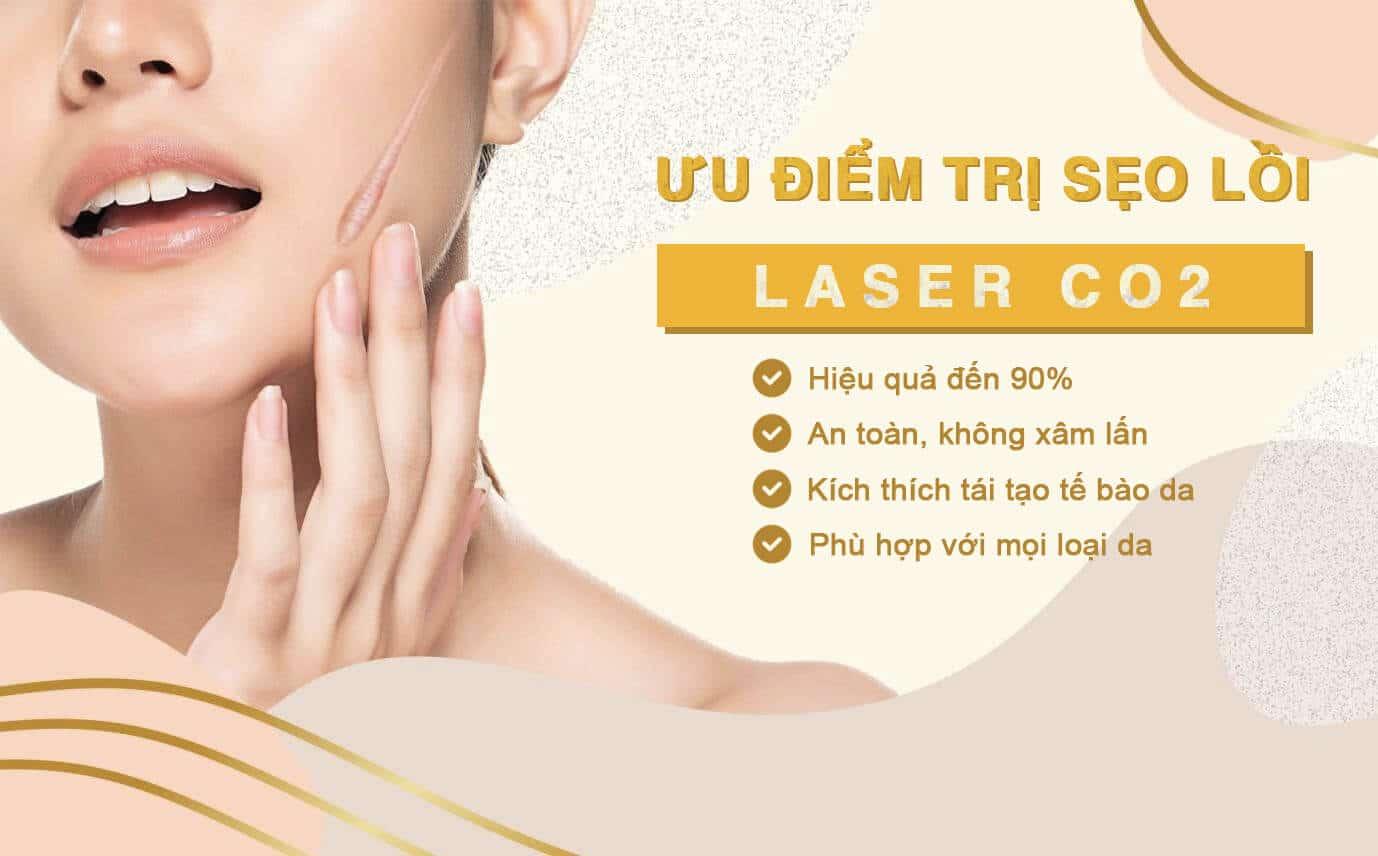 ưu điểm trị sẹo lồi bằng laser co2