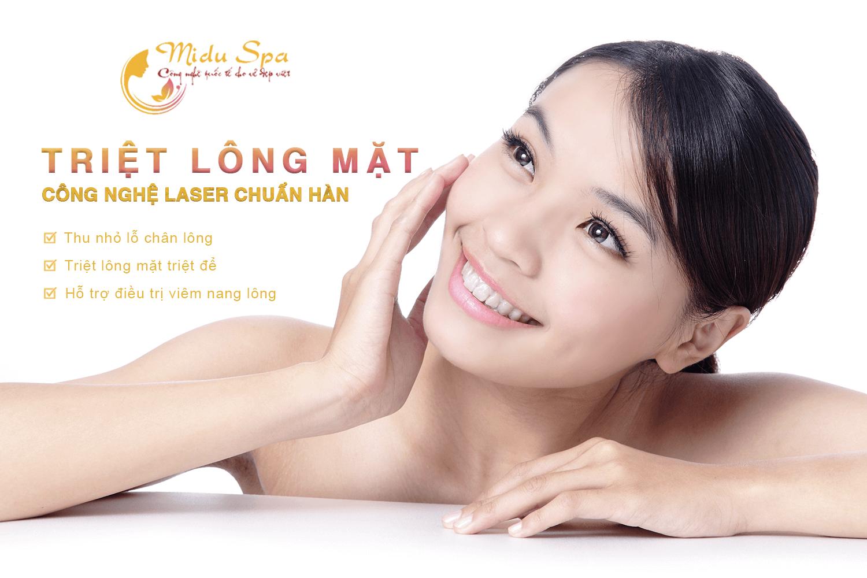 công nghệ laser triệt lông mặt