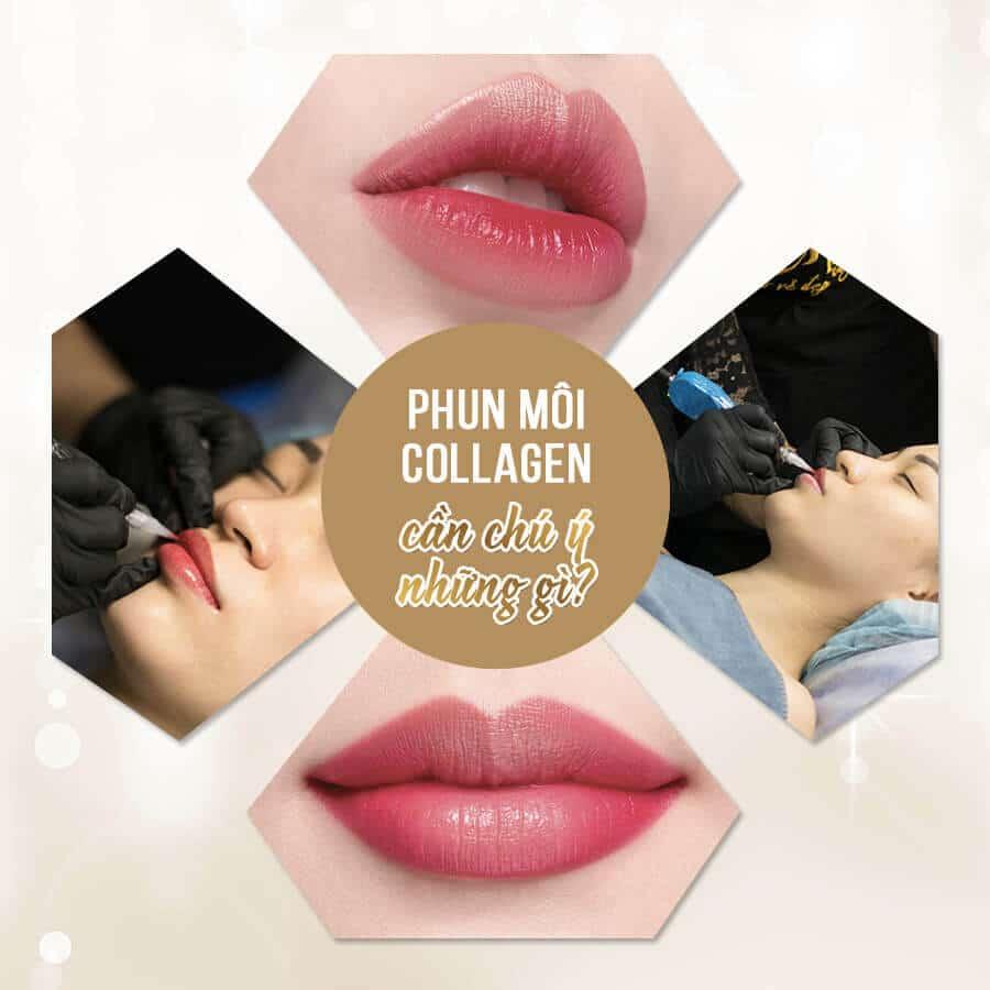 lưu ý khi phun môi collagen