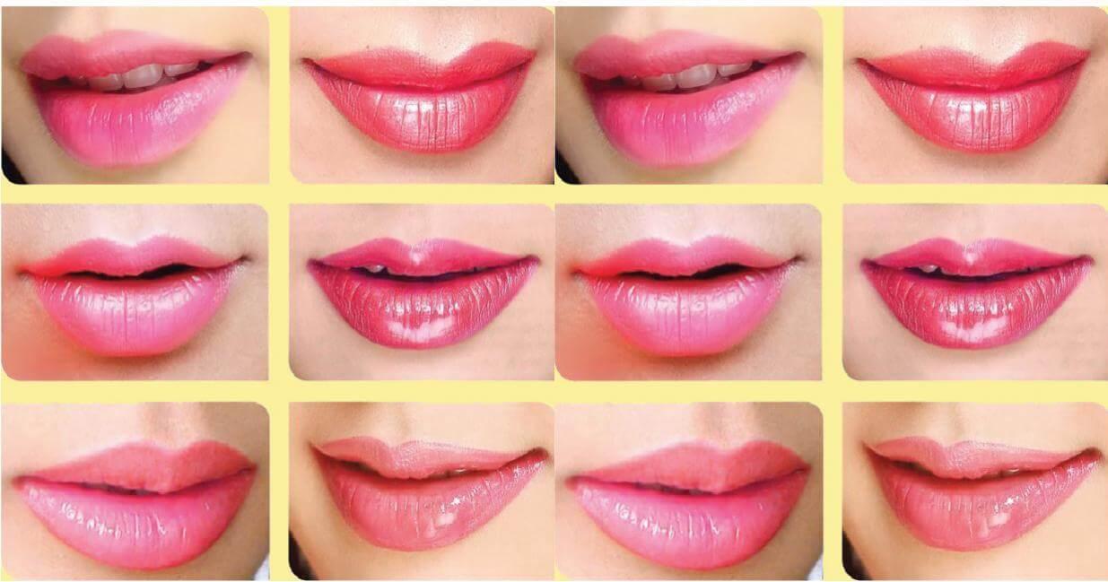 top các màu môi phun đẹp