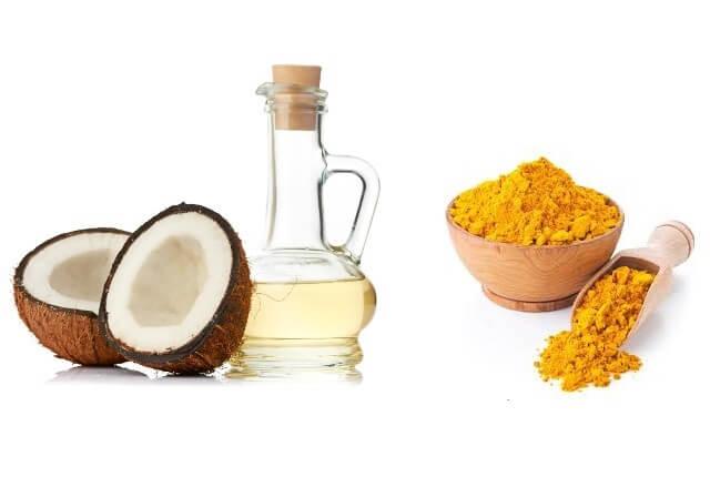 cách làm mặt nạ dầu dừa và nghệ trị tàn nhang