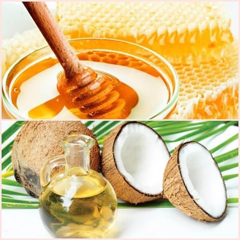 trị tàn nhang bằng dầu dừa và mật ong