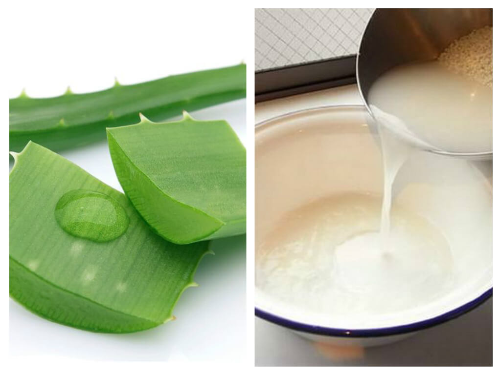 trị tàn nhang bằng nha đam và nước vo gạo