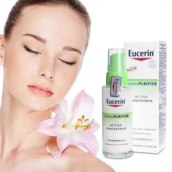 Eucerin Dermopurifyer Active Concentrate giúp da mặt hết mụn, trắng hồng rạng rỡ