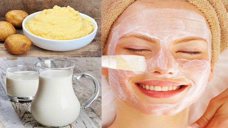 Mặt nạ trị mụn đầu đen từ sữa tươi, khoai tây rất phù hợp với làn da khô hoặc là da hỗn hợp
