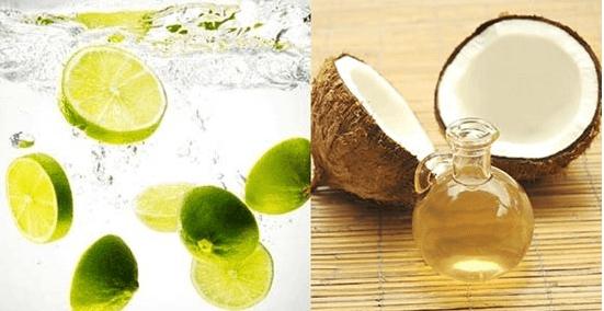 Nước cốt chanh và dầu dừa – đánh tan mụn bọc