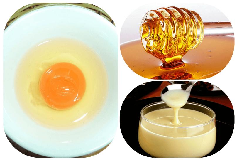 Lòng trắng trứng gà và mật ong giúp trị mụn hiệu quả