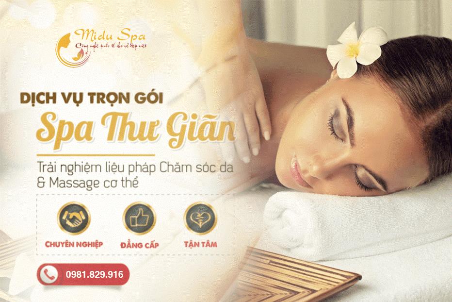 Spa massage giảm mỡ bụng hiệu quả -MiduSpa